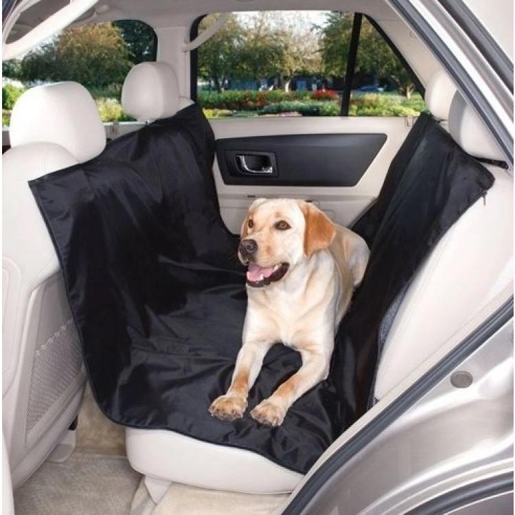 capa-de-proteção-para-banco-de-automóvel-western-pet-preta-detalhe-no-carro