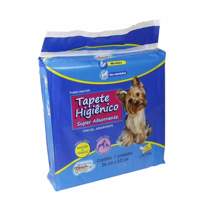 tapete-higiênico-para-cães-western-pet-azul