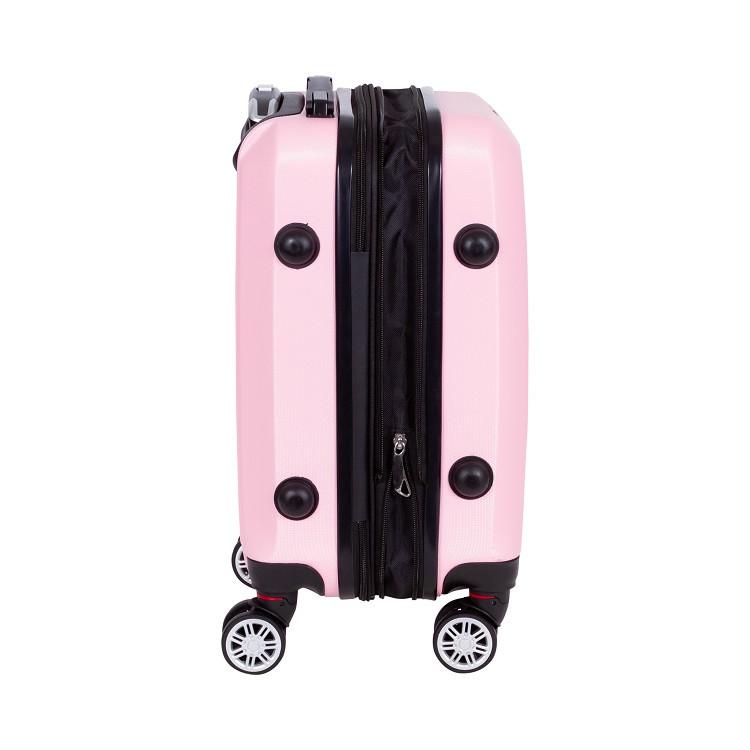 mala-travelux-st-moritz-tamanho-p-rosa-claro-detalhe-expansor-e-pés-de-apoio