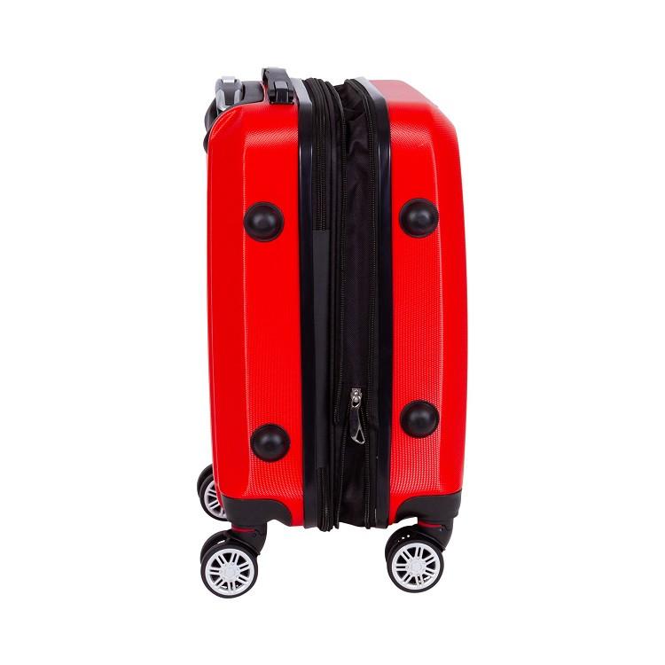 mala-travelux-st-moritz-tamanho-p-vermelha-detalhe-expansor-e-pés-de-apoio