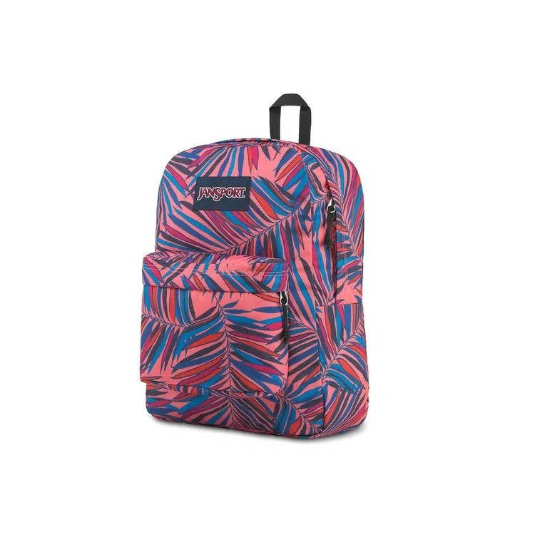 mochila-jansport-superbreak-dotted-palm-lateral