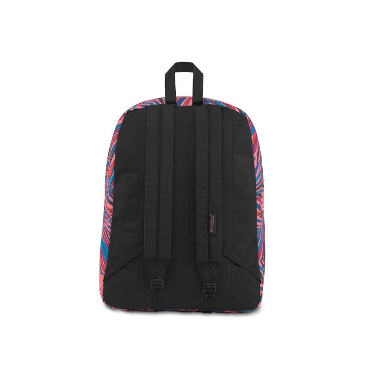 mochila-jansport-superbreak-dotted-palm-traseira