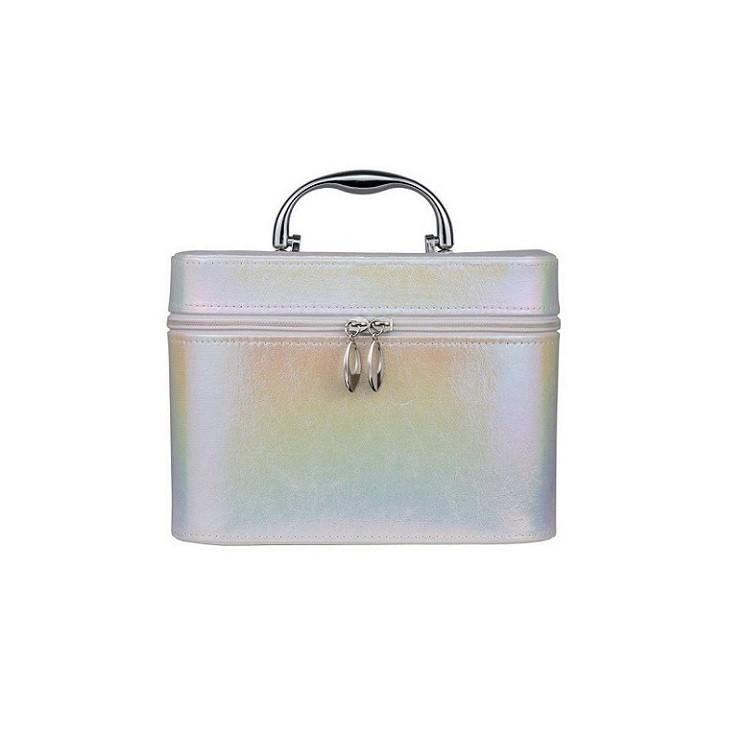 maleta-de-maquiagm-holográfica-branca