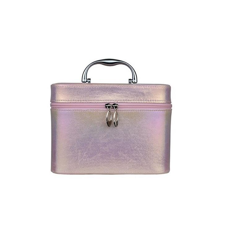 maleta-de-maquiagm-holográfica-rosa