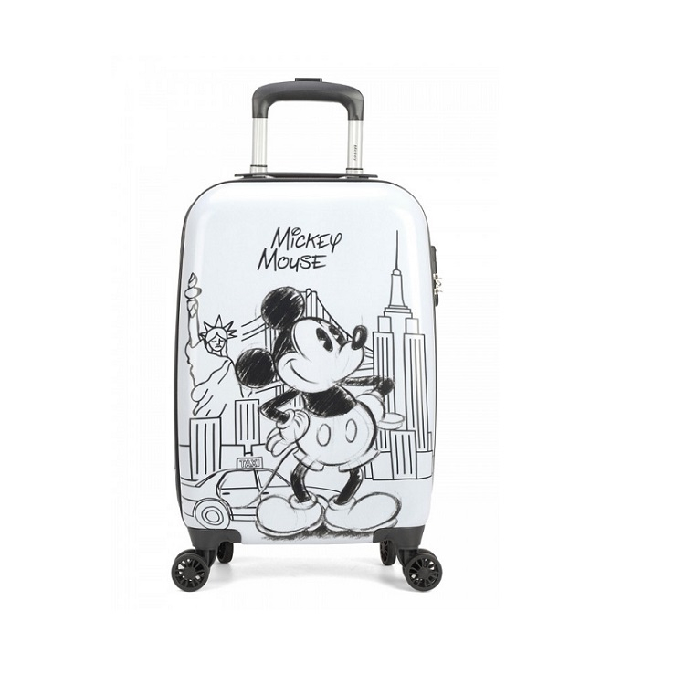 Mala Disney Mickey Mouse New York Tamanho P Branco