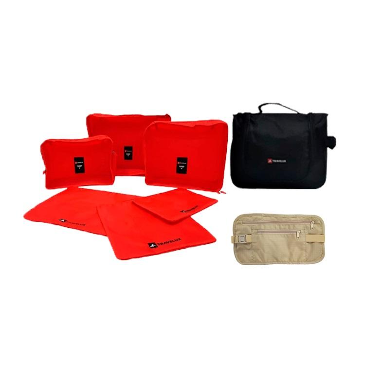 Kit de Viagem Travelux II Vermelho